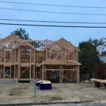Framing completed, sheathing is next